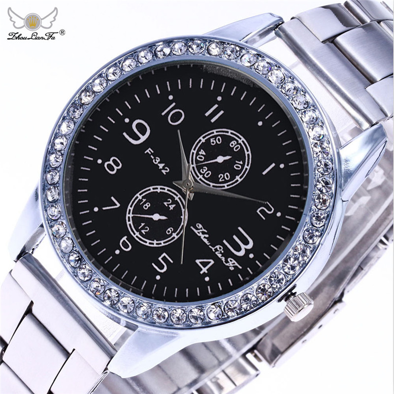 Fashion Relogio Digital Silver Diamond Dial Stainless Steel Strap Men Luxury Business Quartz Watch Megir Wristwatch Mens N138 ysdx 398 fashion stainless steel self stirring mug black silver 2 x aaa