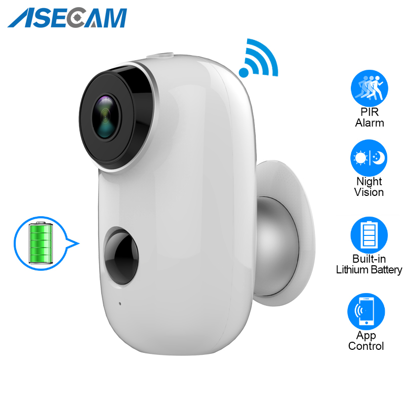 ASECAM Wireless Battery IP Camera WiFi 1080P HD Weatherproof Outdoor Home Security P2P PIR with TF Card Slot Battery IP CamASECAM Wireless Battery IP Camera WiFi 1080P HD Weatherproof Outdoor Home Security P2P PIR with TF Card Slot Battery IP Cam
