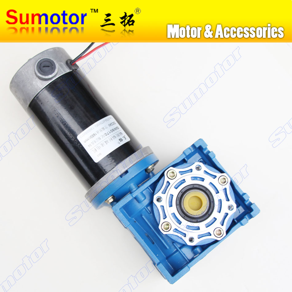GW80170 DC 24V Worm Gear reducer electric motor Large torque High power Low speed High Quality for Industry Robot Lift Driving n20 dc gear motor large torque motor wearable rubber wheel