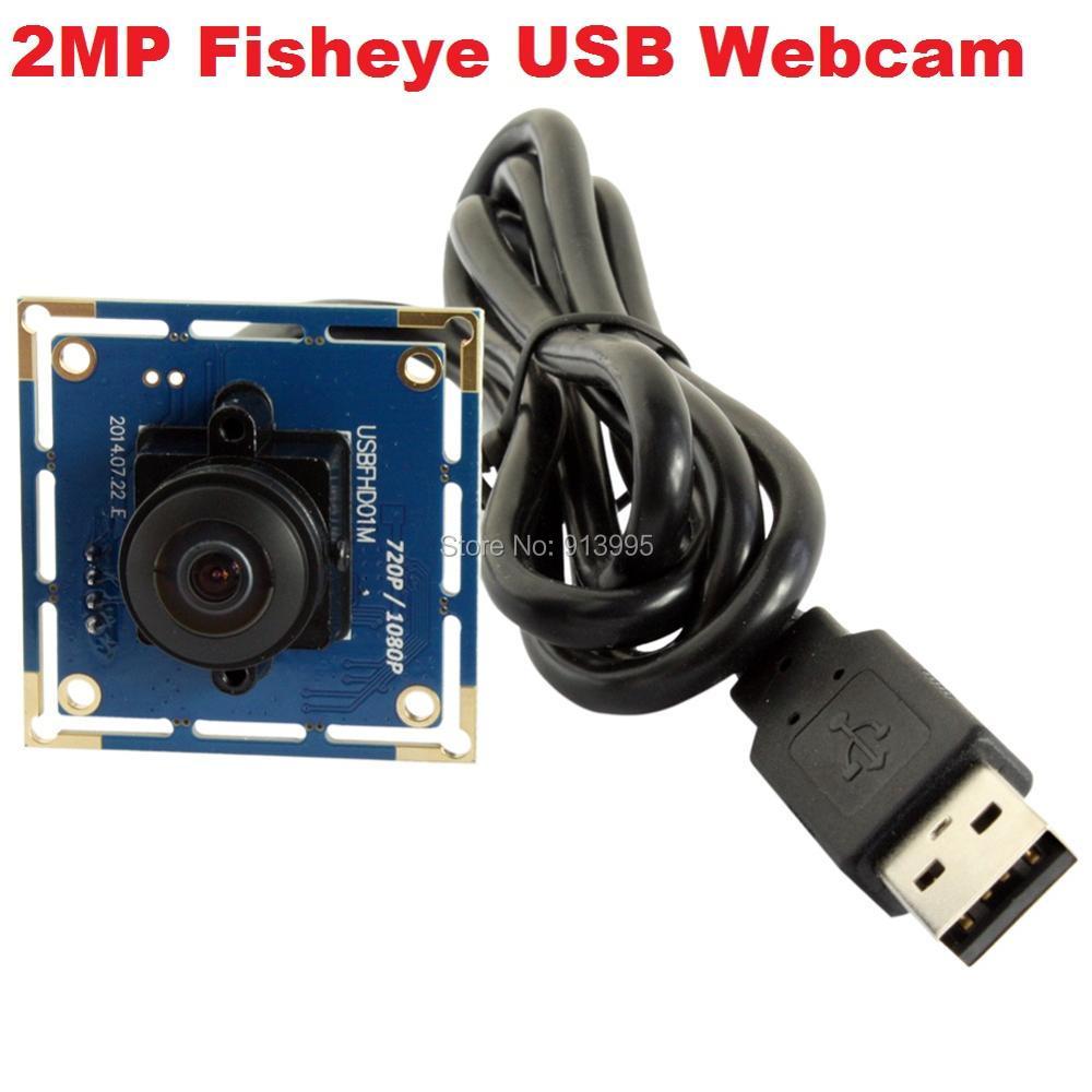 ФОТО 2MP cmos OV2710 wide angle 180 degree fisheye android usb camera module 1080P free driver UVC  for many equipments