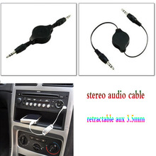 Audio Aux Cable 3.5mm to 3.5MM Jack  Male to Male Gold Plug Car Audio Retractable Flexible Extension Cable For iPhone Speaker цена и фото