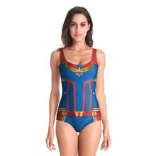 Halloween Anime érotique lingerie Cosplay Costumes Avengers Endgame 4 capitaine Marvel Tankini maillots de bain femmes Sexy Bikini body(China)