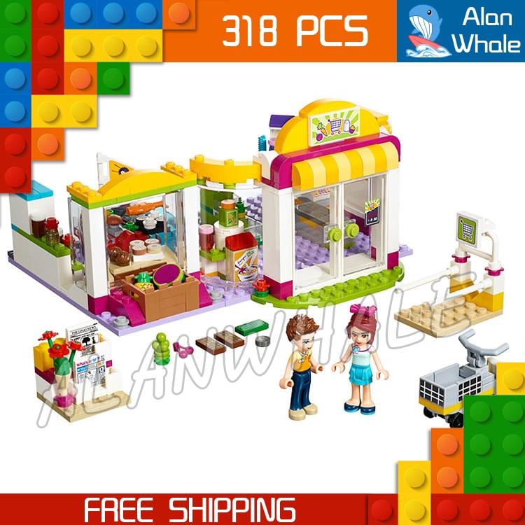 313 шт. 10494 друзей серии heartlake супермаркет Модель Строительный кирпич блоки Mia Даниэль игрушки Совместимость с лего