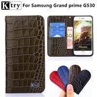 K'try Luxe Lederen Voor Coque Samsung Galaxy Grote Prime Case G530 G530H G531 G531H G531F SM-G531F Portemonnee Flip Cover