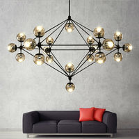 Including LED Bulbs Magic Beans DNA Lustres Wrought Iron Industrial Cafe Project Nordic Art Deco Glass
