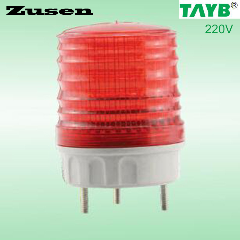 Zusen TB5051 220v Red Led  Signal Lamp Warning Light LED Small Flashing Light
