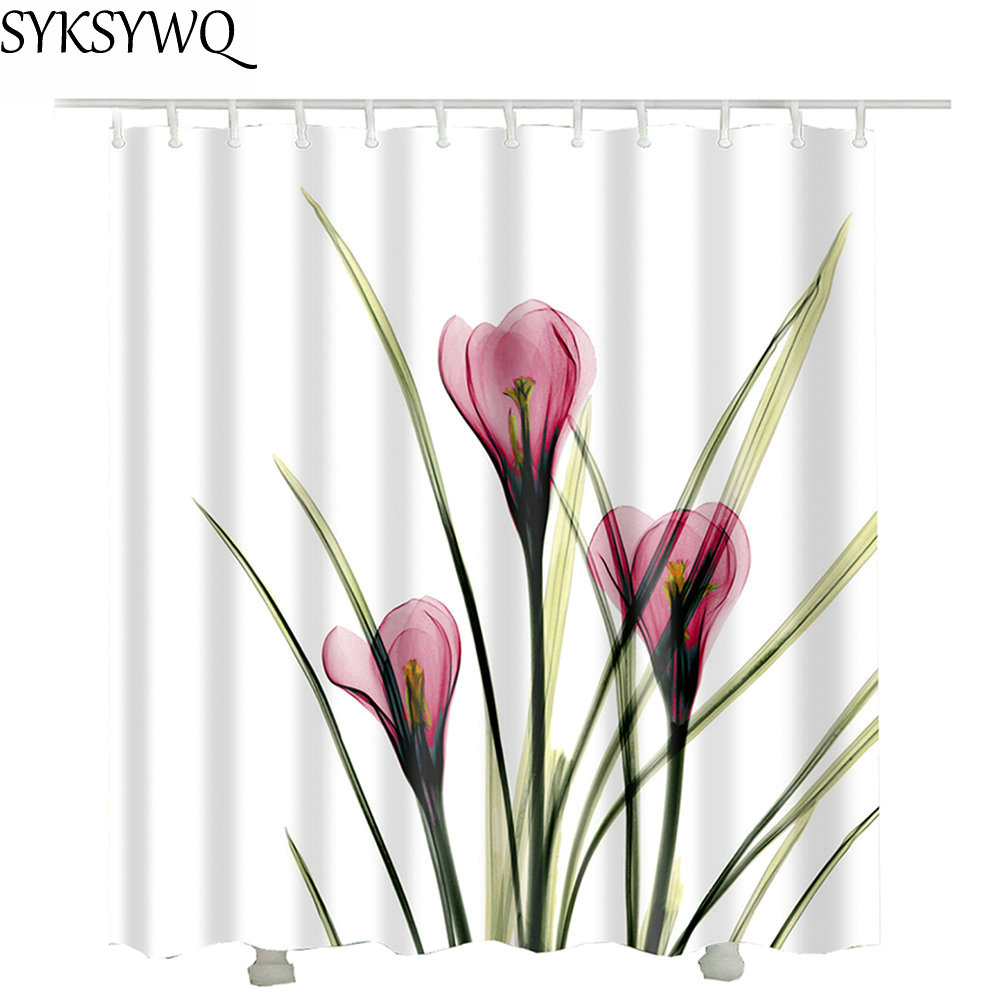 Daffodil Shower Curtain Fabric Polyester Waterproof