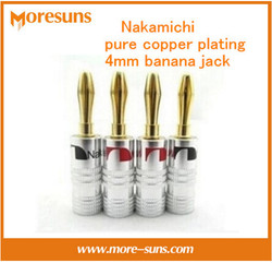 Free shipping 10pcs lot nakamichi pure copper plating 4mm speaker connection banana jack horn wire banana.jpg 250x250