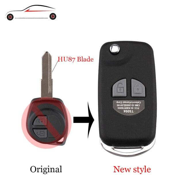 GORBIN Modified Folding Remote Car Key Case Shell For SUZUKI HU87 Blade For SUZUKI SX4 Swift 2 Button + Button Pad