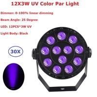 30 Pacco Mini Formato 12X3 W UV Singolo Colore LED Della Fase Lampada Par Luci Led Spotligh Ultravioletti Con DMX512 Per Il Natale decorazione