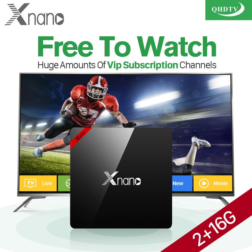Arabic IPTV Box 2G 16G XNANO Android 6.0 TV Set Top Box S905X Arabic IPTV French Europe IPTV Subscription 1 Year QHDTV Account x92 android iptv box s912 set top box 700 live arabic iptv europe french iptv subscription 1 year iptv account code