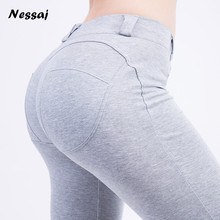 Nessaj Good Quality Low Waist Leggings Push Up Pants Elastic Leggings Women Sexy Skinny Leggings 2017 Autumn Winter Fashion