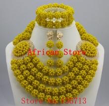 Moda zestaw biżuterii druhna kwiat Choker naszyjniki zestaw kolczyków nigeryjczyk afrykańskie koraliki biżuteria ślubna zestaw kryształ R503 tanie tanio Zestawy biżuterii TRENDY yeahmi Ze stopu cynku Necklace Bracelet earrings Party Kobiety Naszyjnik kolczyki bransoletka