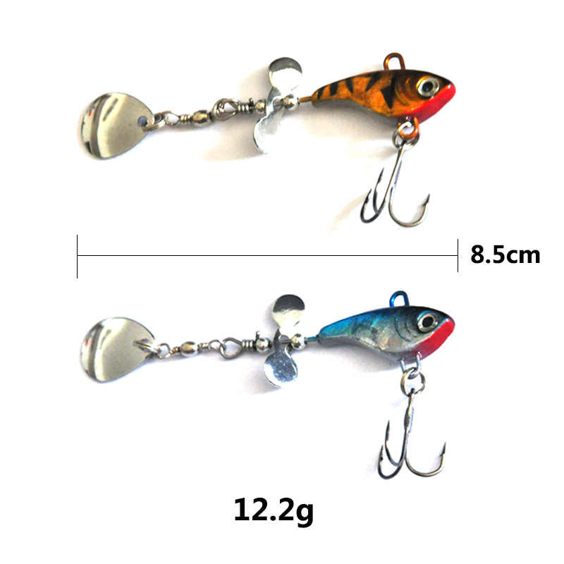 OLOEY soft bait Fishing Spoon Lures Spinner Spoon Bait Fishing  Spoons Metal Lure Rotating  Pesca Peche Treble Tackle