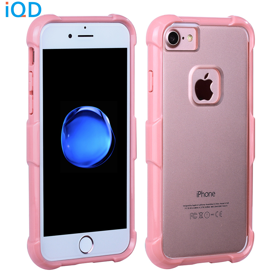 info for 2bec5 d9e67 US $4.99 45% OFF|IQD For Apple iPhone 7 Case Acrylic Anti Scratch Clear  Hard Back Cover Protective Bumper case for iPhone 7 8 plus Cases-in Phone  ...