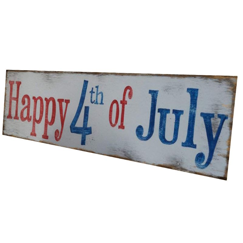 Image 5 - Rustic Wooden Happy 4th Of July Sign Plaque Independence Day Collection Gift Home Decoration-in Plaques & Signs from Home & Garden