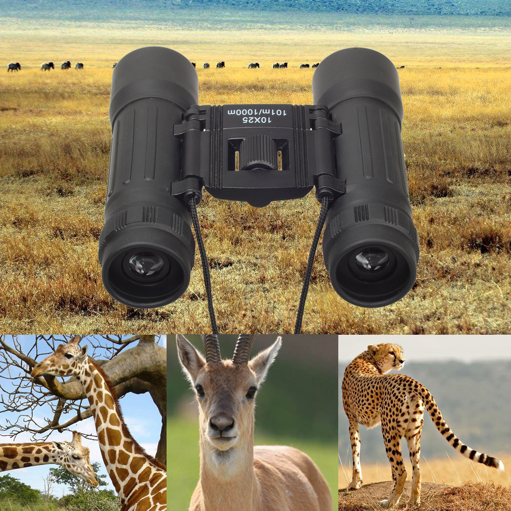 Image result for Pocket-size 10x25 101M/1000M Outdoor Sports Hunting Binoculars Telescopes