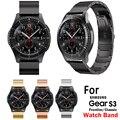 Luxury Stainless Steel WatchBand For Samsung Galaxy Gear S3 Women Watches  Bracelet Men Smart Watch Watchband Strap Metal Clasp