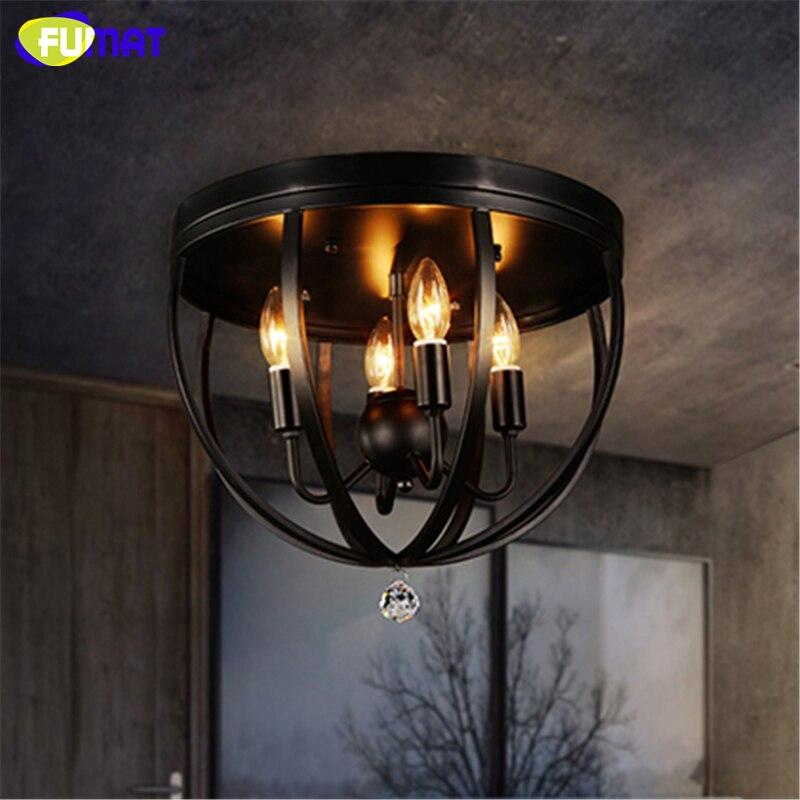 FUMAT Loft Vintage Ceiling Light Loft Industrial Ceiling Luminaire For Living Room Dining Room Balcony Retro Metal Ceiling Lamp