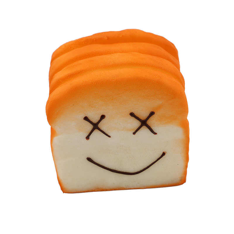 Имитация искусственный хлеб милый каваи лицо большой тост ломтики торта витрина магазина украшения кухни модель PU Материал MU882115