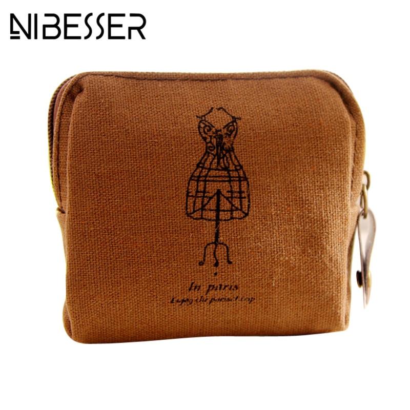 NIBESSER Cartoon Women Coin Purse Lovely Mini Girls Purse Fashion Money Bag Change Pouch Female Coin Key Holder Portable Wallet