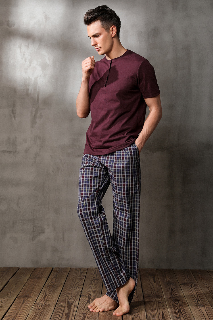 Free Shipping.autumn Brand Men Sleep Pajamas,sleeping Home Clothing,cotton Plus Size Sleepingwear For Man,homme Quality.sales