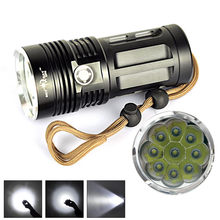 LED lamp 11.11 New Arrival 10000 LM 9T6 9x CREE XM-L T6 LED Flashlight Torch Lamp 3 Modes 18650 Hot Sell Drop Shipping(China)