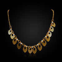 African costume fashion gold color Austrian Crystal choker necklace for women Statement charm indian jewelry prom necklaces