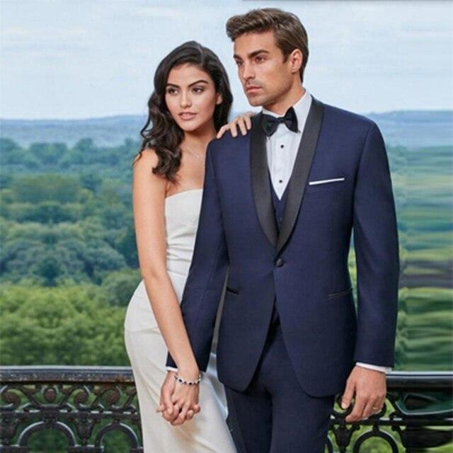 New Royal blue mens suits wedding Grooms with pants men suit Slim ...