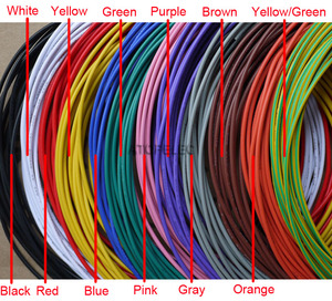 UL1007 PVC Tinned Copper Wire Cable 16/18/20/22/24/26/28/30 AWG Black/Brown/Red/Orange/Yellow/Green/Blue/Purple/Gray/White/Pink