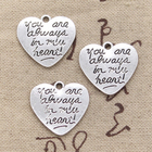 5pcs Charms Heart Al...