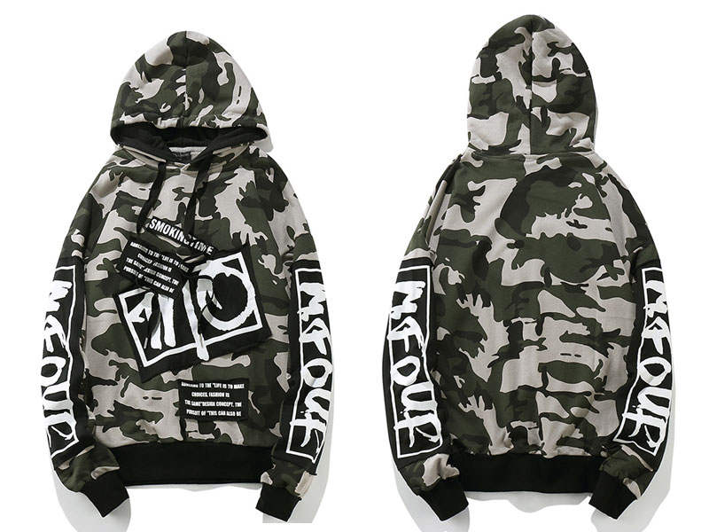 Camouflage Patch Hoodies 1
