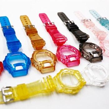 a7447faf9824 Reloj accesorios correa de resina para Casio G-SHOCK con brillante luz GA110  100 GD120 100 GLS100 correa de reloj