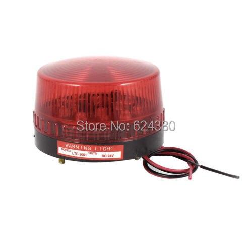 Industrial Signal Emergency Alarm Warning Lamp Red LED Flash Strobe Light 12V 24V DC LTE-5061