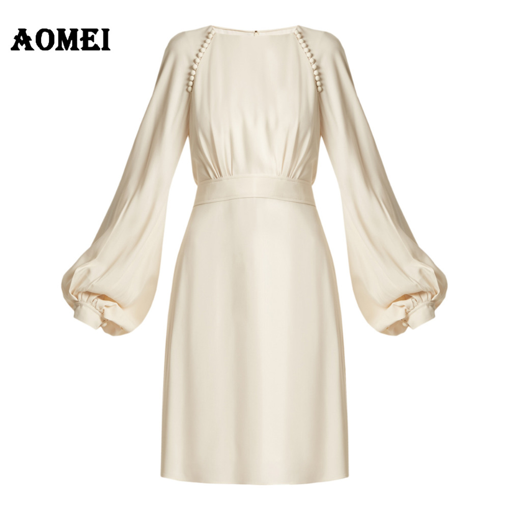 6c5e25adfd03 S 5XL White and Black Patchwork Color Dress for Women Retro A Line Girl  Casual Robe Femme Tunic Full Sleeve Slash Neck DresssesUSD 14.60 piece