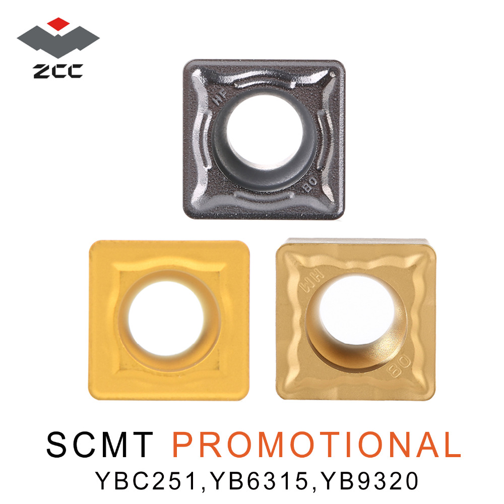 10pcs/lot ZCC.CT SCMT 09T308 SCMT09T304 Promotional Tungsten Carbide Turning Inserts For Steel Stainless Steel CNC Lathe Tools