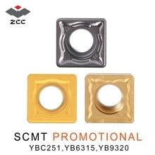 10 Stks/partij Zcc. Ct Scmt SCMT09 SCMT12 Promotionele Tungsten Carbide Draaien Inzetstukken Voor Staal Roestvrij Staal Cnc Draaibank Gereedschap