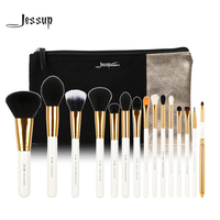 Jessup Brand 15pcs Beauty Makeup Brushes Set Brush Tool White And Gold T103 Cosmetics Bags Women