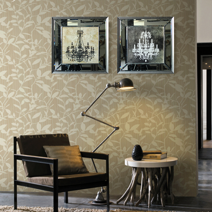 2015 framed mirrors pendant lamp home decoration wall art for American style home decoration