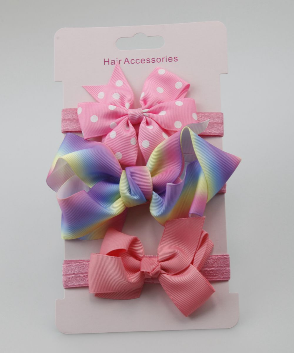 3pc baby girl elastic bowknot headband children skinny stretchy Bow elastic hair Band Accessories flower para cabelo hot sale baby girl elastic hairband children hair wear for kids head band flower headband baby hair accessories