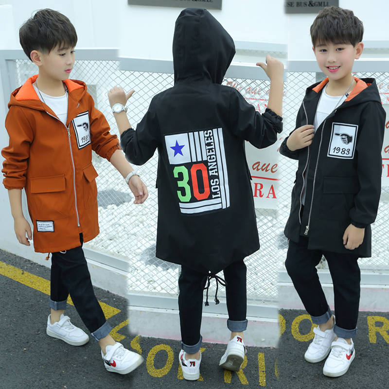 Boys Jacket Outerwear Spring Tide Autumn Kids And Long Garment New