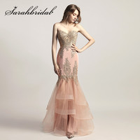 Blush Pink Evening Dresses With Sweetheart Long Mermaid 2017 New Arrival Prom Party Gowns Embroidery Beaded