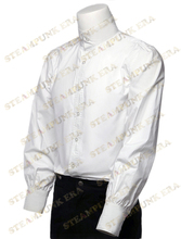Free Shipping  Halloween White Solid Color Pure Cotton Men's victorian Steampunk Shirts