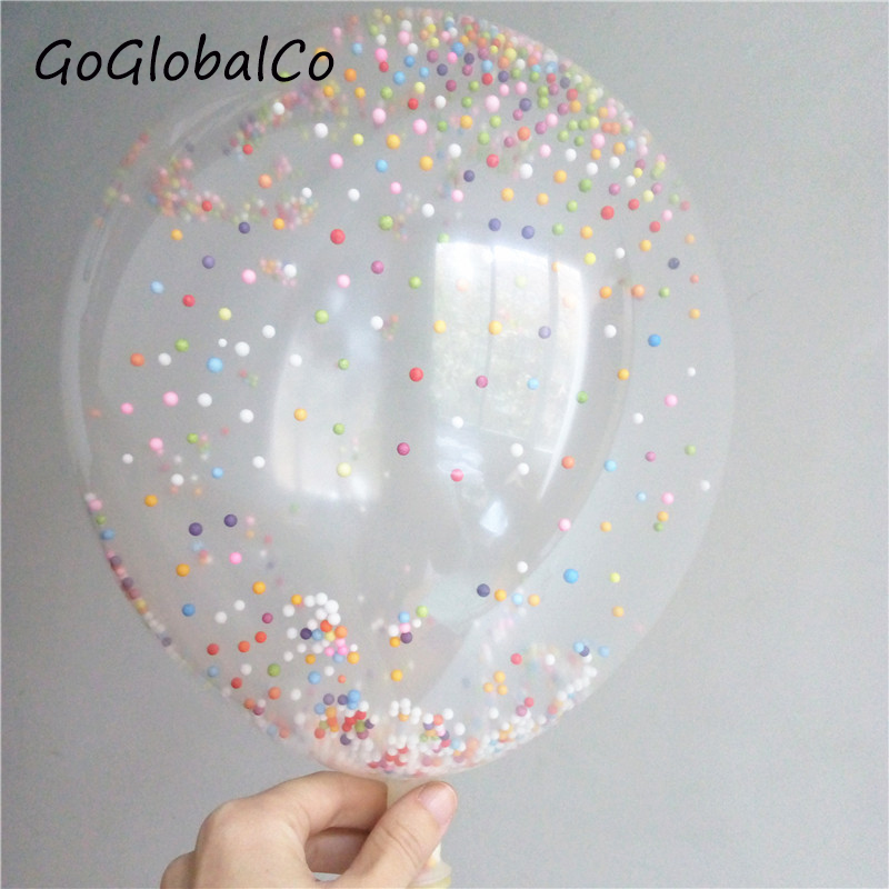 10Pcs 12 Inch Glitter Foam Latex Confetti Balloon Romantic Wedding Decoration Round Balloons Birthday Party Supplies Ballons