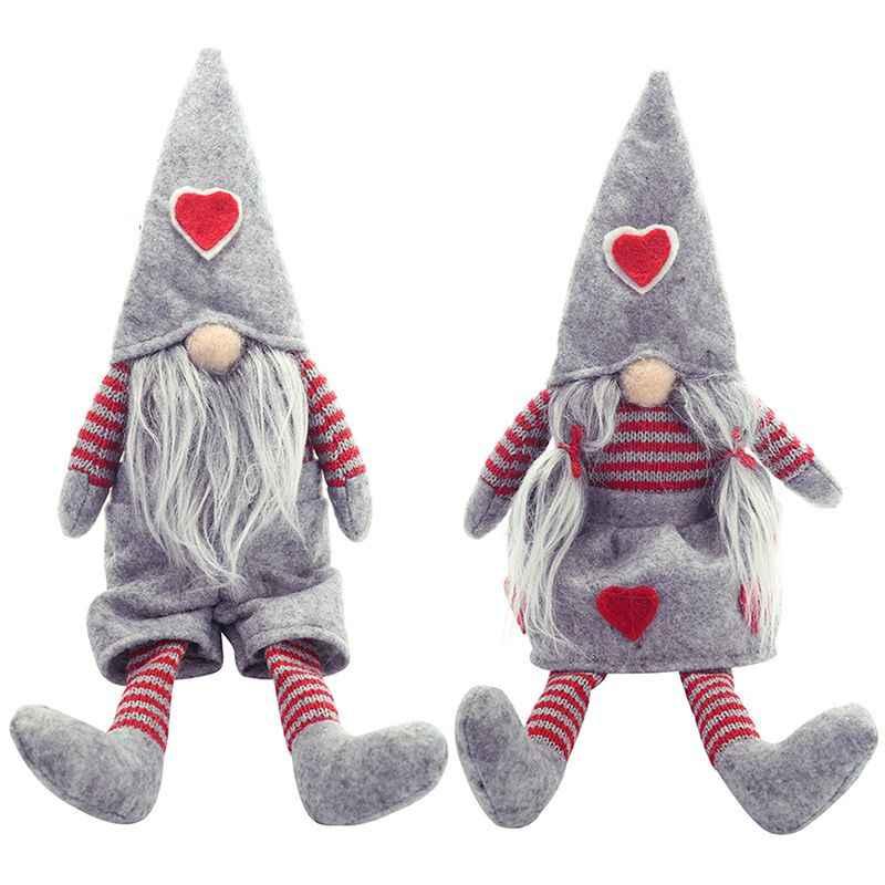 Ручной работы, Шведский Рождественский Санта-гном, плюшевые куклы, праздничные фигурки, игрушки, рождественские украшения для дома