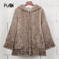 Pudi CT7034 real fur coat women real mink fur coat jacket with hood 2017 genuine mink fur shawl poncho wraps