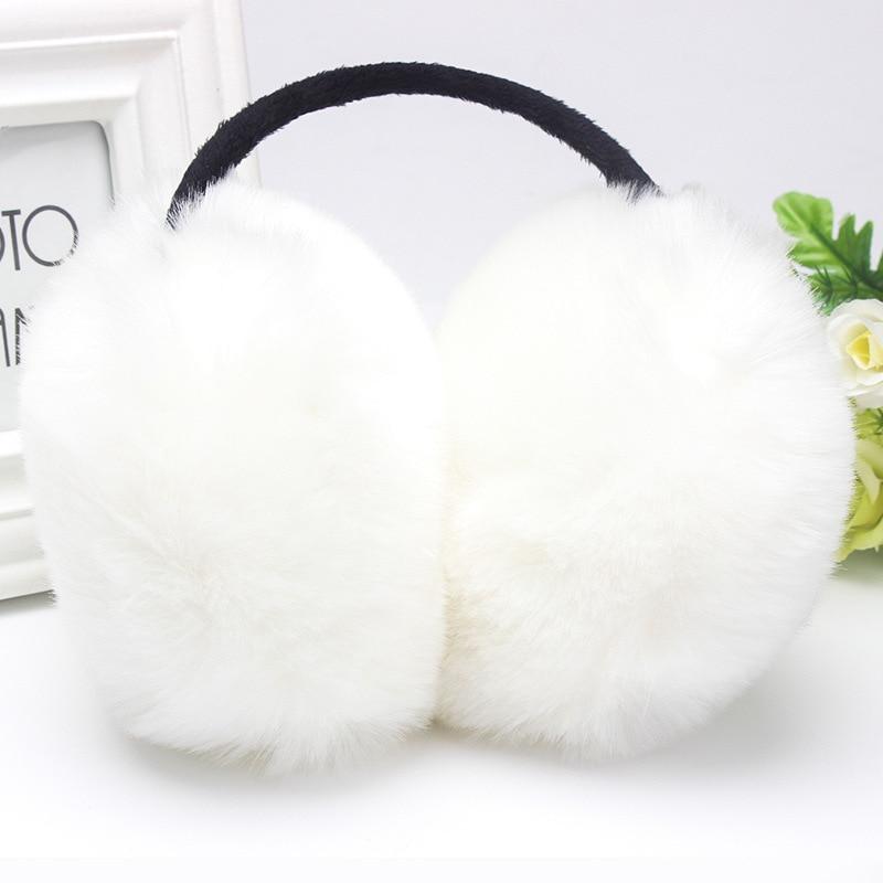 Winter Women Warm Fur Earmuffs Girl's Earlap Ultralarge Ladie's Plush Ear Muff Female  Good Quality Fur Lady Fur Earmuffs Ear Co