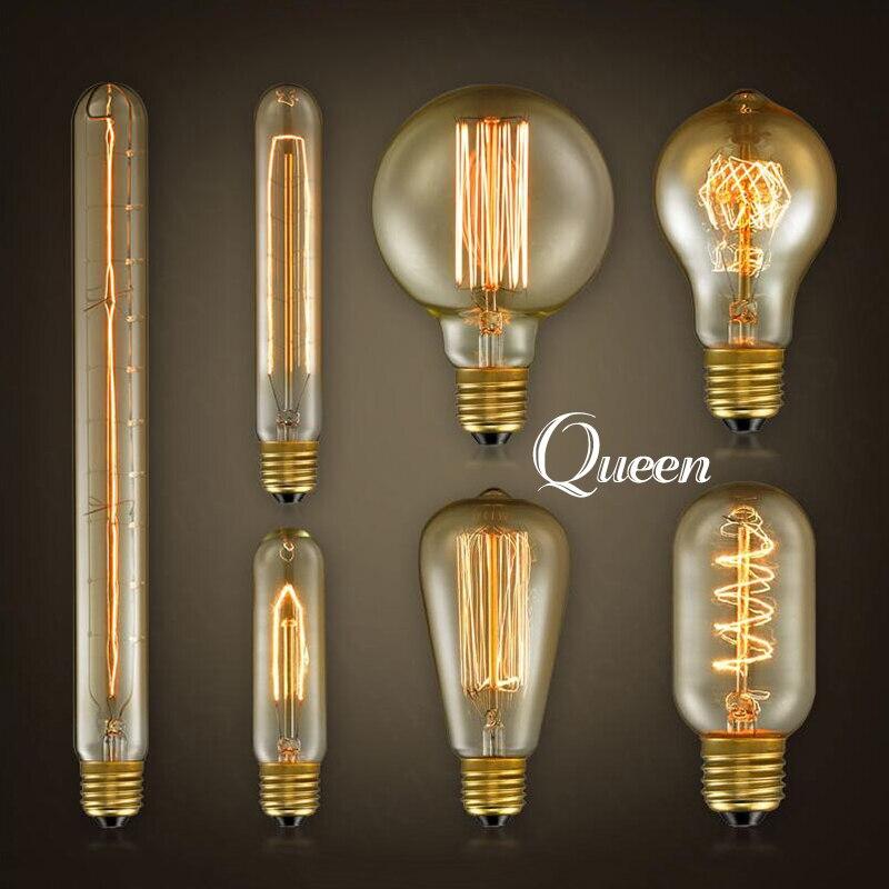 ampoule vintage edison bulb e27 filament decorative light bulb 40w 110v lampada retro lamp christmas - Decorative Light Bulbs