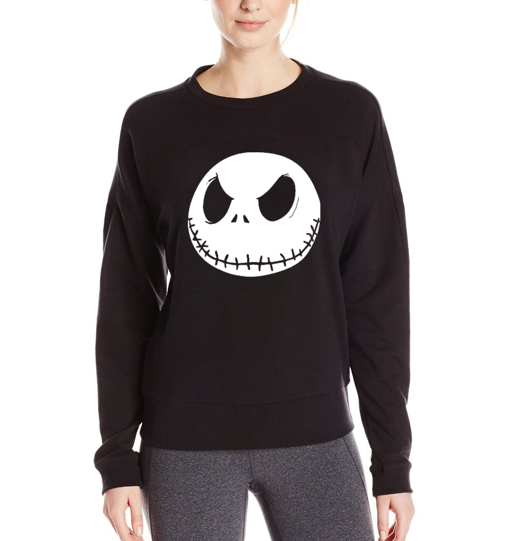New women sweatshirts 2017 funny kpop hoodies Jack Skellington Smile face print brand tracksuit hoody hip hop pullovers harajuku