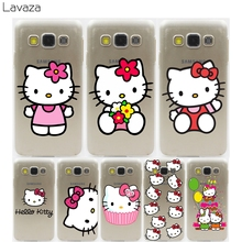 Lavaza hello kitty Hard Transparent Case for Samsung Galaxy S3 S4 S5 & Mini S6 S7 S8 Edge Plus